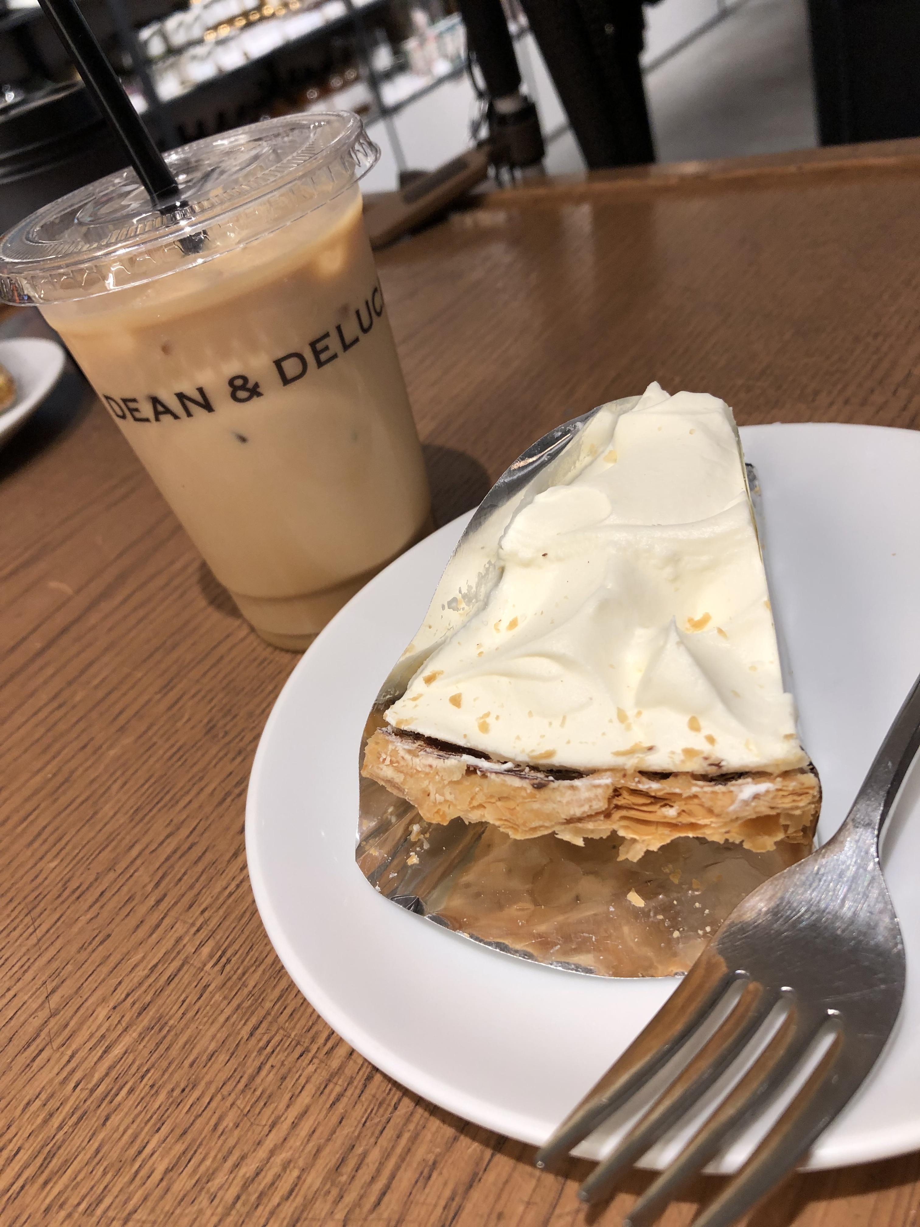 バナナクリームパイと塩キャラメルラテ
